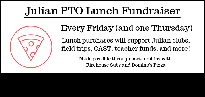 Julian PTO lunches from Firehouse and Domino's available through online store