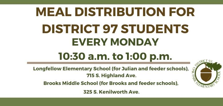 Meal distribution for District 97 students