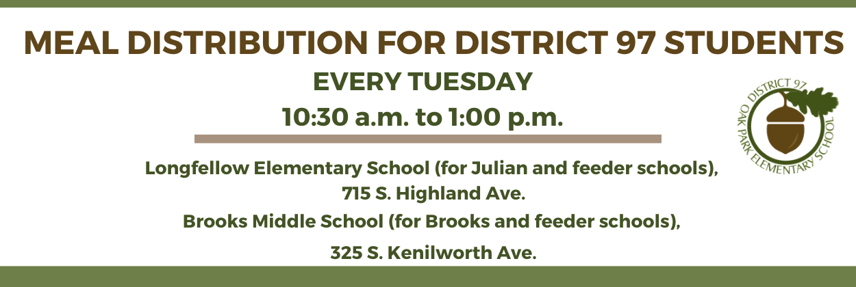 Click banner for more details about District 97 meal distributions during Trimester 1