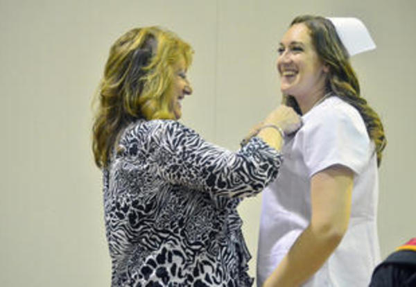 Donnelly Awards Pins to 26 Practical Nursing Students