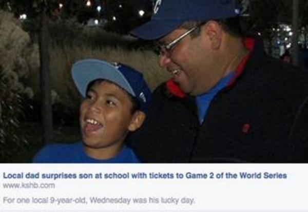 In the News: Juan Rangel Surprises Son at School with Tickets to Game 2 of the World Series