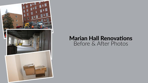 Marian Hall Renovations - Before & After Photos Slide 2