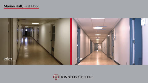 Marian Hall Renovations - Before & After Photos Slide 4