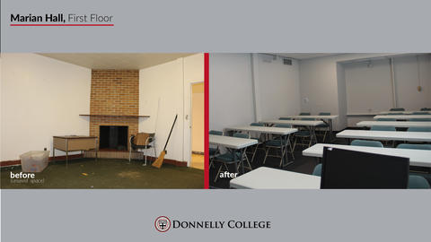 Marian Hall Renovations - Before & After Photos Slide 5