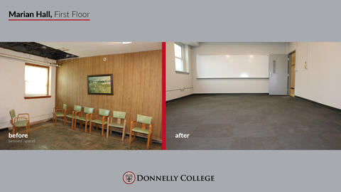 Marian Hall Renovations - Before & After Photos Slide 6