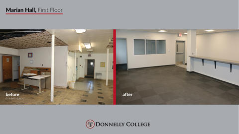 Marian Hall Renovations - Before & After Photos Slide 7