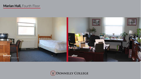 Marian Hall Renovations - Before & After Photos Slide 9
