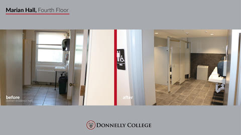 Marian Hall Renovations - Before & After Photos Slide 10