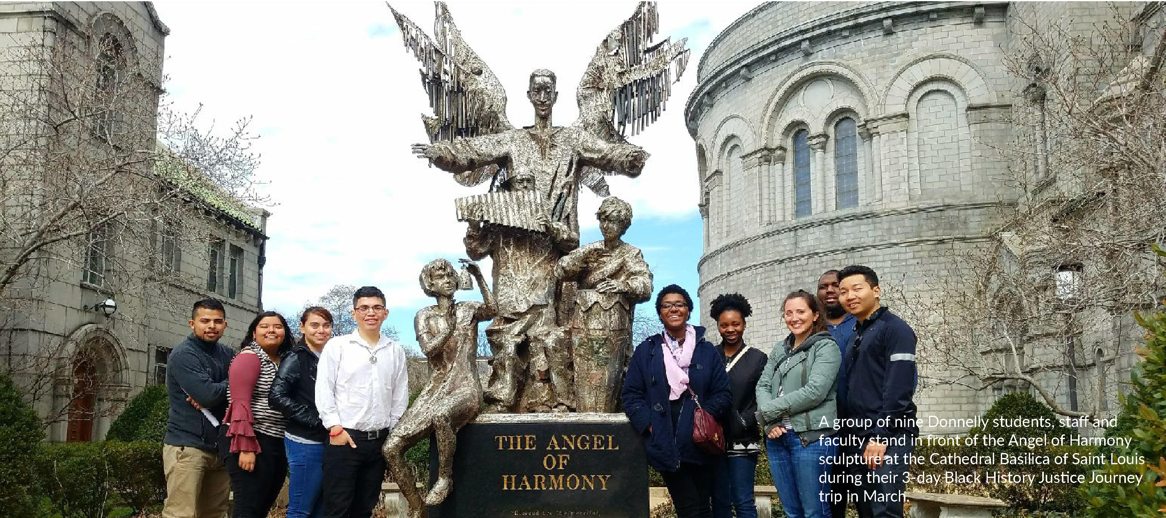 Donnelly students on Black History Justice Journey trip