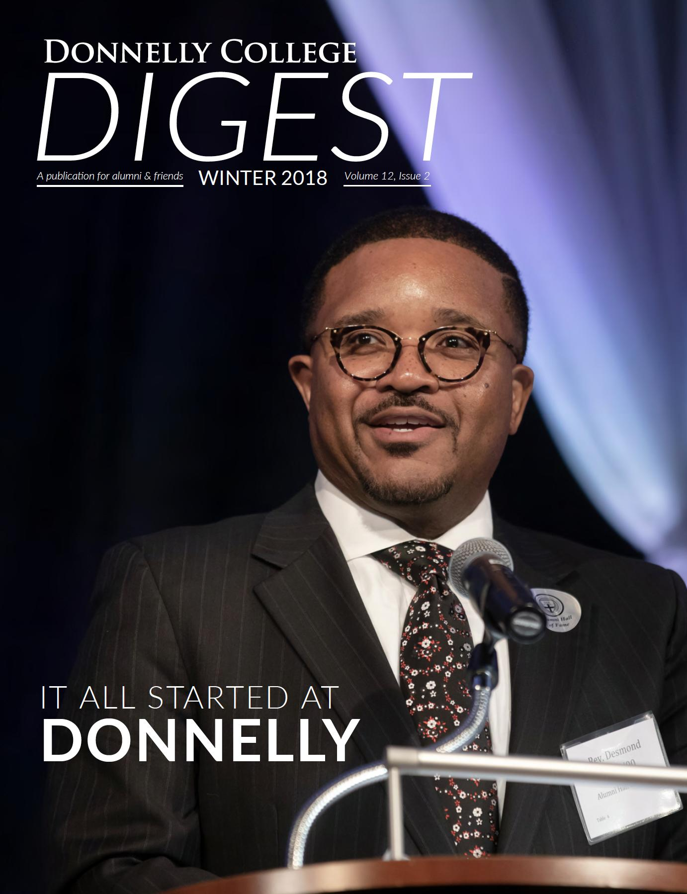 2018 Winter Digest cover