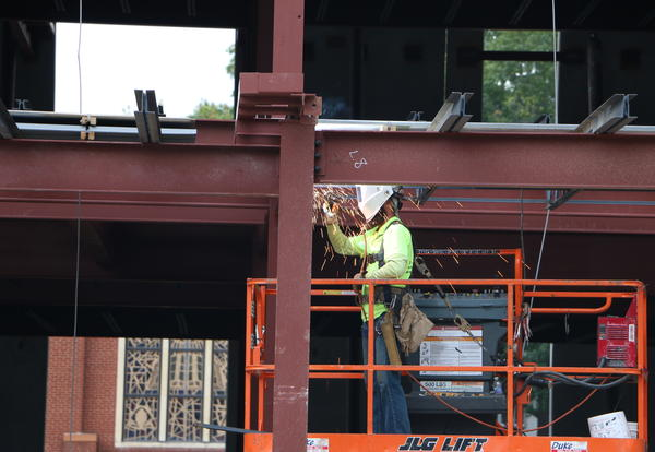 Welding on new building