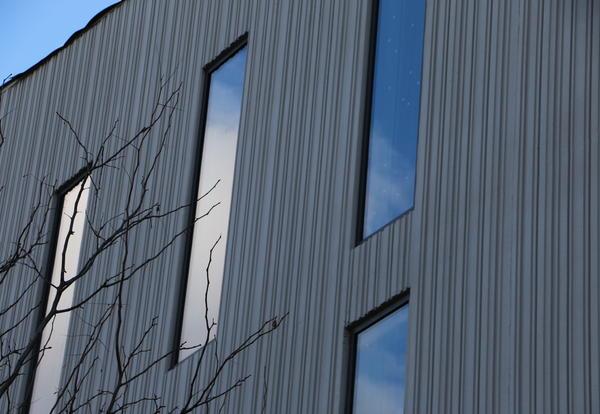 Exterior shot of windows
