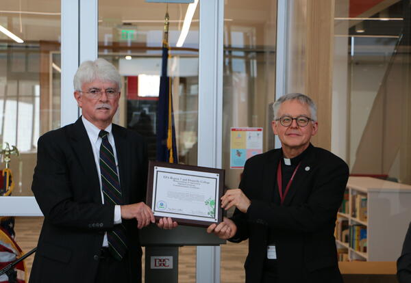 Donnelly College signs MOU with EPA Monsignor Swetland Speaks