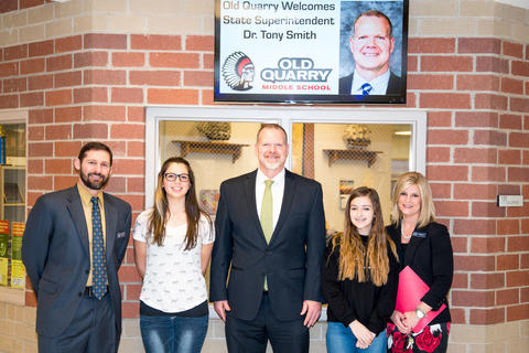 State Superintendent of Education Dr Tony Smith tours District 113A Schools March 24 2016-02