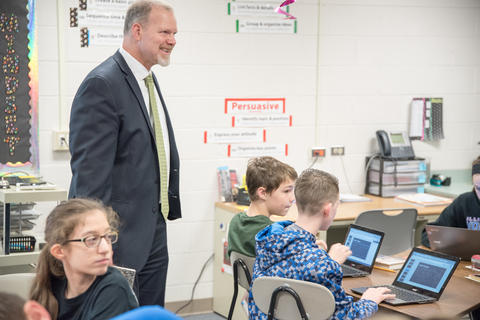 State Superintendent of Education Dr Tony Smith tours District 113A Schools March 24 2016-03