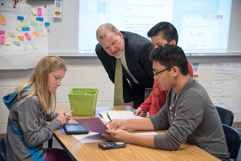 State Superintendent of Education Dr Tony Smith tours District 113A Schools March 24 2016-01