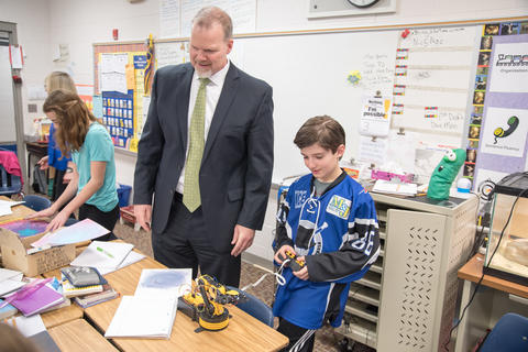 State Superintendent of Education Dr Tony Smith tours District 113A Schools March 24 2016-04