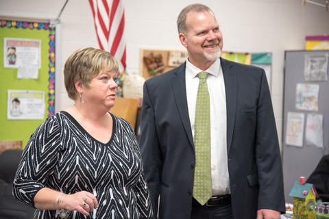 State Superintendent of Education Dr Tony Smith tours District 113A Schools March 24 2016-05