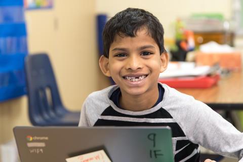 Oakwood first graders using Google Classroom February 16 2017-4