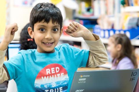 Oakwood first graders using Google Classroom February 16 2017-6