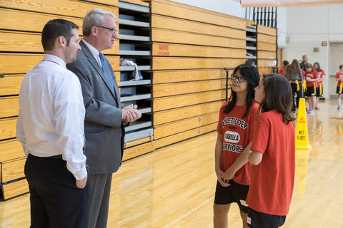 Jim Durkin visits Old Quarry Middle School October 18 2016-08
