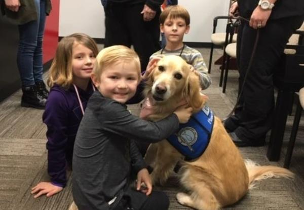 Eve the Comfort Dog Visits OW