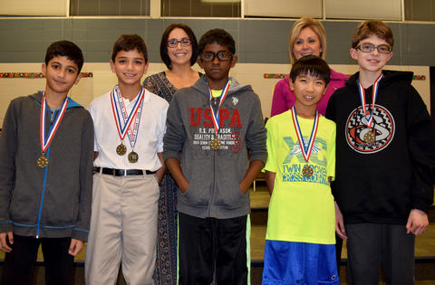 Group of medal recipients and teachers