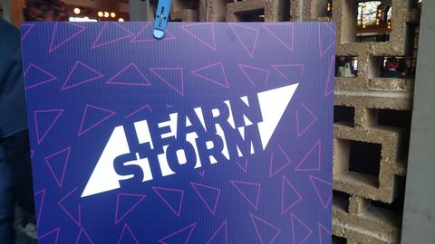 Sign that says Learn Storm