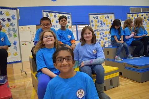 Prairie School Celebrates Blue 35