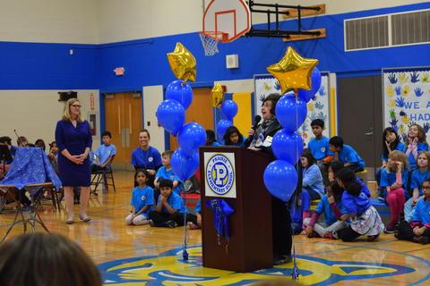 Prairie School Celebrates Blue 54