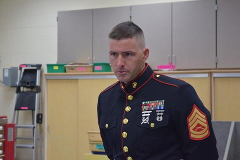 Man in Marines dress uniform