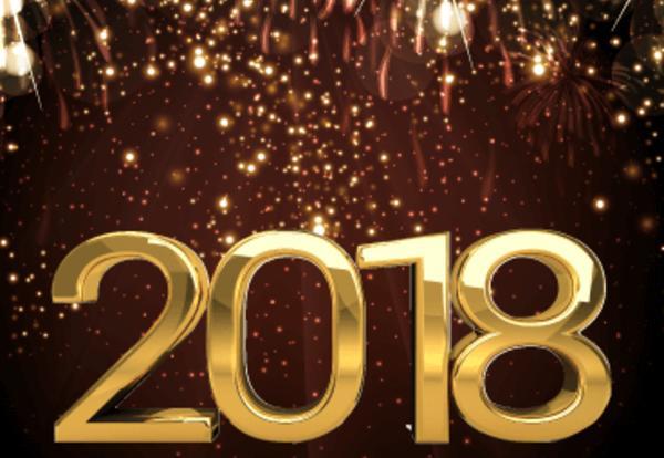Happy 2018 graphic