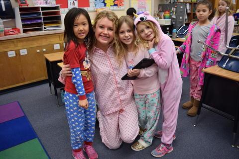 Pajama Day Fun at Kildeer – Feb. 2018 0029
