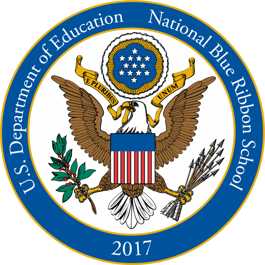 National Blue Ribbon Schools Program Logo - 4th grade students problem solve and build electric circuits.