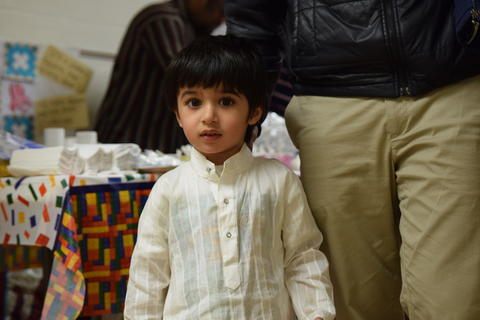 young boy in cultural clothing