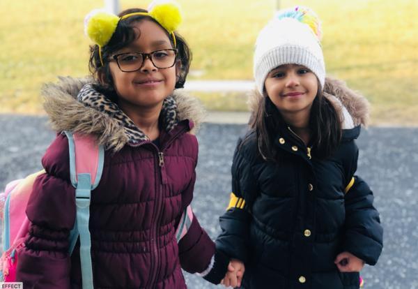 Children heading to school