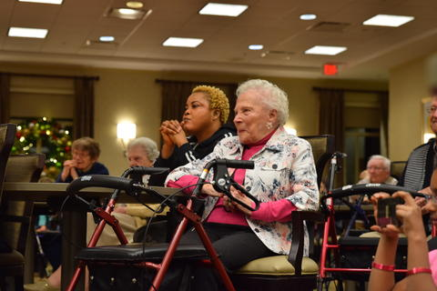 Singing with Sedgebook Residents - Photo #7