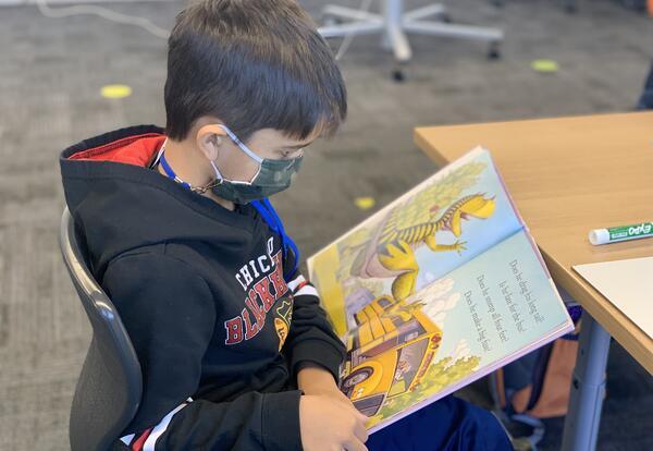 1st grader reading
