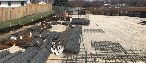 Nearly 45 tons of rebar has been delivered to the jobsite!