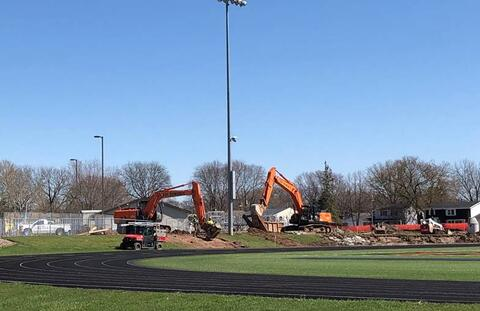 Site utilities on the east side of the Stadium are underway with retaining wall installation to follow.