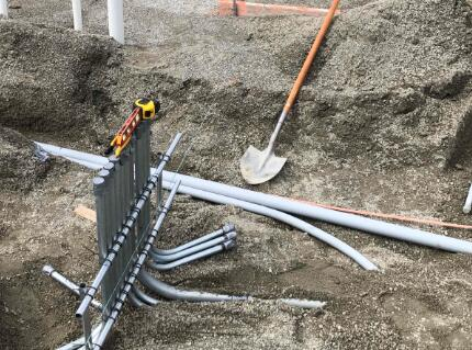 Underground Electric is being installed in Area A.