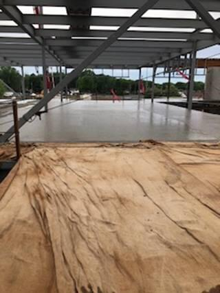 The classroom addition 2nd floor slab got poured this week.