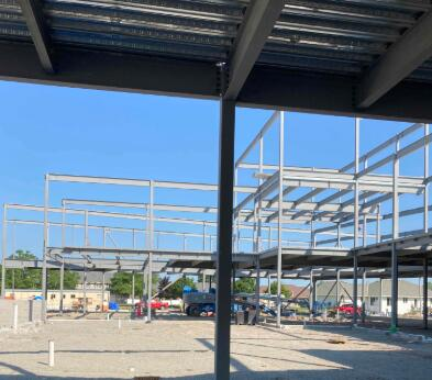 Structural steel erection has continued and sequence 2 is now complete.