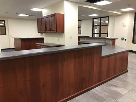 Finishes are near completion for the main office and remote office.