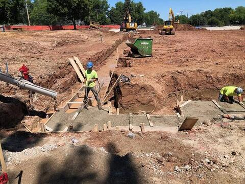 Footings are starting to be poured for the Indoor Practice Facility.