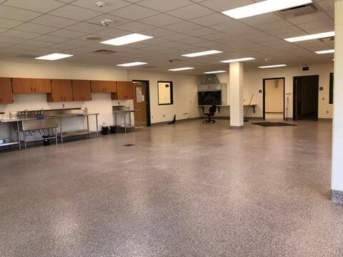 Art room epoxy flooring is now complete and stainless equipment is being installed.