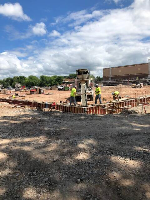 Foundations for the Indoor Practice Facility continue to progress.