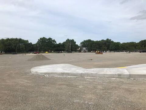 The north parking lot has been graded and is almost ready for paving!