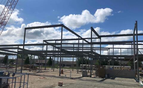 Structural steel sequence 3 has been set. This sequence of steel makes up the structure of the library.