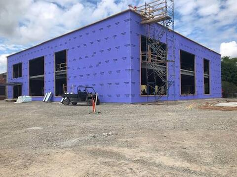 The classroom addition is progressing with exterior sheathing and roofing near completion. Interior studs are now starting to go up and classrooms are starting to take shape!